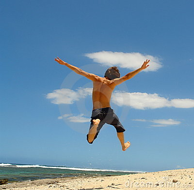 Free Jump On The Beach, Royalty Free Stock Image - 2666506