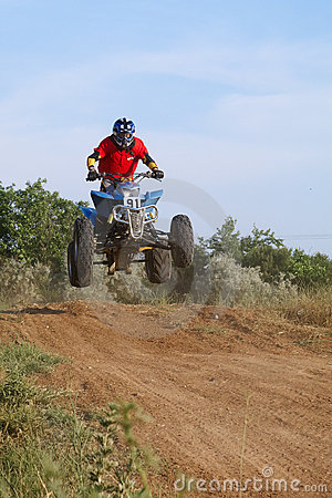 Jump on quad bike Editorial Image