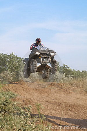 Jump on quad bike Editorial Photo