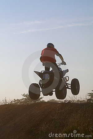 Jump on quad bike Editorial Stock Image