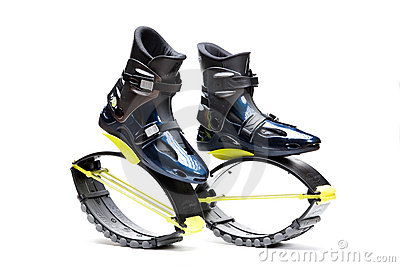 Some gyms with Kangoo jumping programs have available Kangoo shoes for rent click here. You just have to bring knee high socks to ensure you comfortable fit