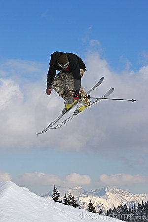 Jump with ski
