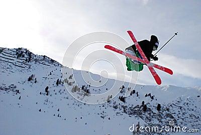 Jump on skis