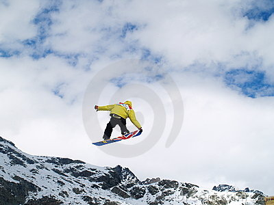 Jump with a snow Editorial Stock Image