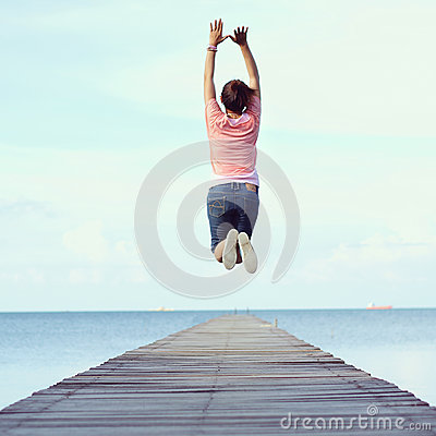 Free Jump To The Freedom Stock Photo - 59360420