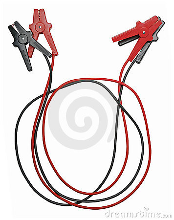 Free Jumper Cables Isolated On White Royalty Free Stock Image - 3779816