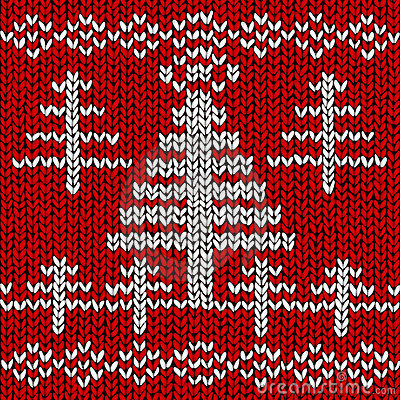 Jumper with Christmas tree pattern