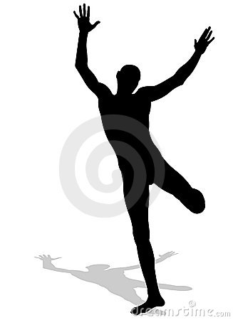 Jumping Balance Silhouette