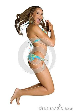 Jumping Bikini Girl