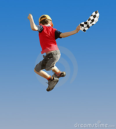 Free Jumping Boy Stock Photography - 89912