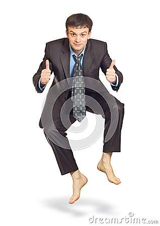 Free Jumping Businessman Royalty Free Stock Photo - 23468835