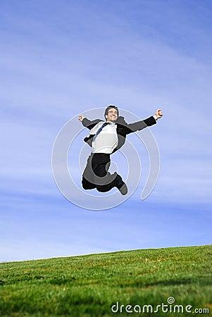 Free Jumping Businessman Royalty Free Stock Image - 4348616
