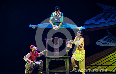 Jumping Chinese modern dancers Editorial Image