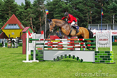 Jumping competition Editorial Stock Photo