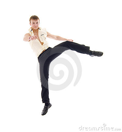Jumping Dance Young Man