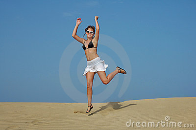 Jumping in the desert