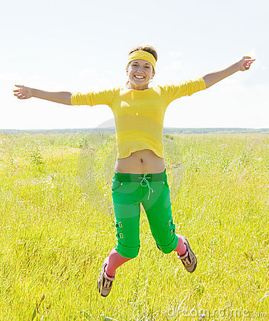Jumping fit girl