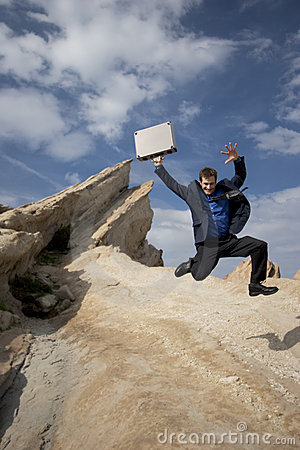Free Jumping For Joy Royalty Free Stock Photography - 162687