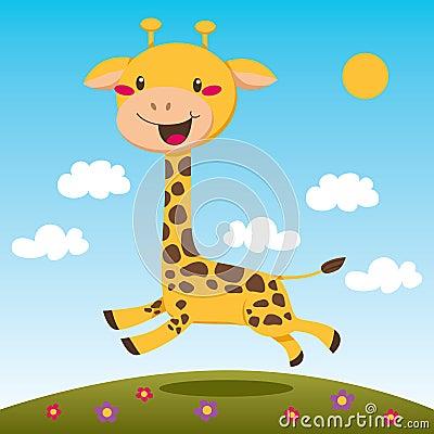 Free Jumping Giraffe Stock Image - 19125771