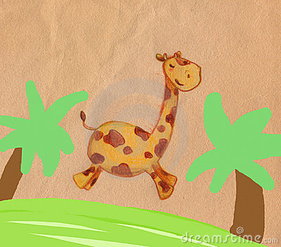 Jumping giraffe