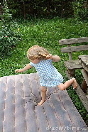 Jumping Girl Royalty Free Stock Image - Image: 1019536