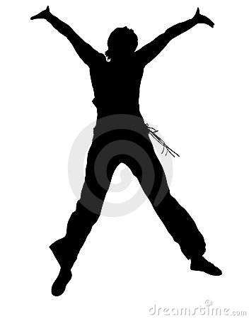 Free Jumping Girl Silhouette Stock Image - 3566511