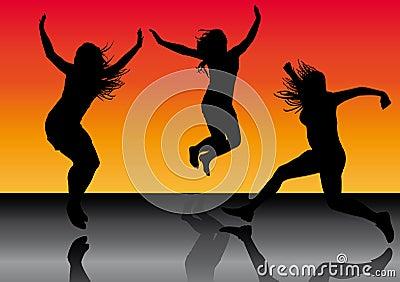 Jumping girls 5