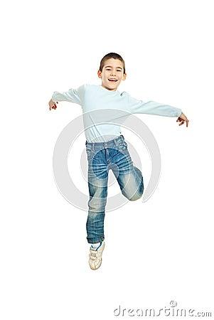 Free Jumping Happy  Kid Boy Stock Image - 18846411