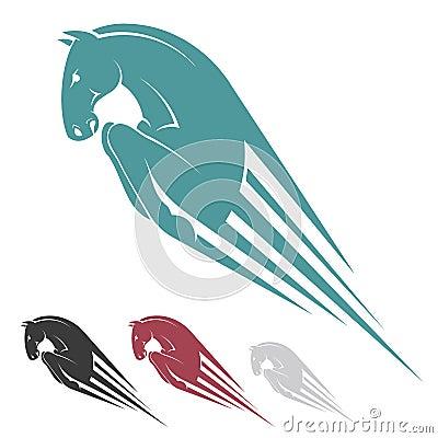 Jumping horse symbol