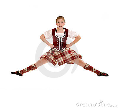 Jumping Irish Dancer