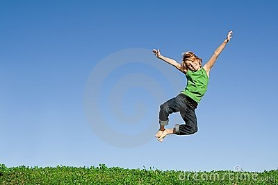 Jumping Kid Royalty Free Stock Image - Image: 4099336