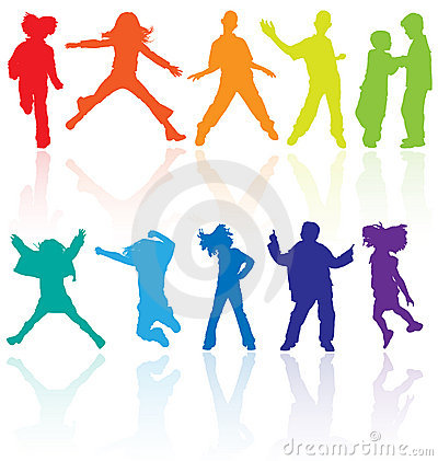 Free Jumping Kids Jump Silhouettes Silhouette Child Kid Vector Sport Dancing Dance Teenagers Children Teens Teen Teenage Party School Royalty Free Stock Photo - 9899235