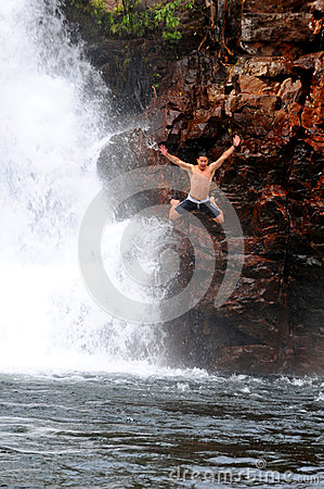 Jumping in Litchfield National Park