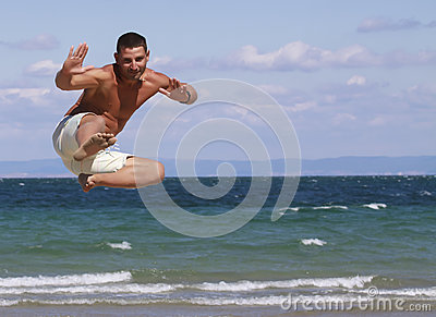 Jumping man in Bulgaria.