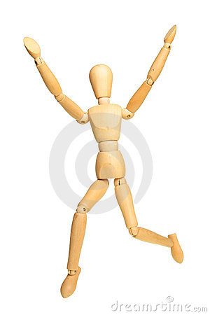 Jumping Manikin Stock Images - Image: 18198044