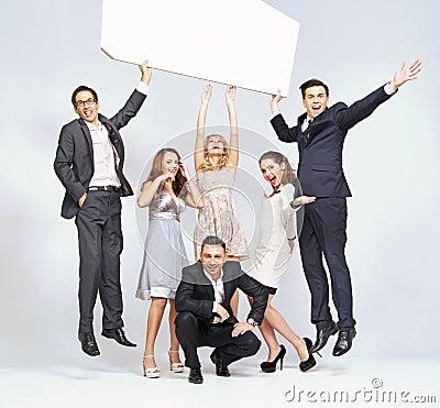 Jumping men and elegant women