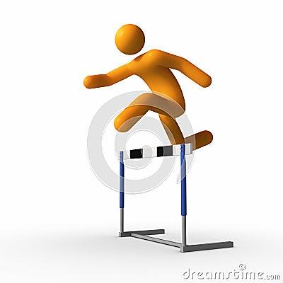 Jumping over hurdle