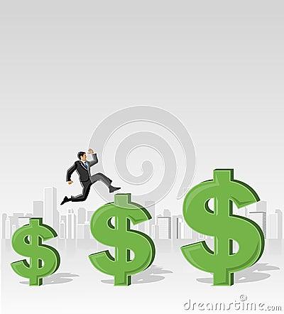 Jumping over money symbols