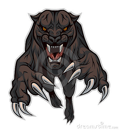 Jumping panther Vector Illustration