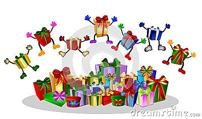 Jumping presents