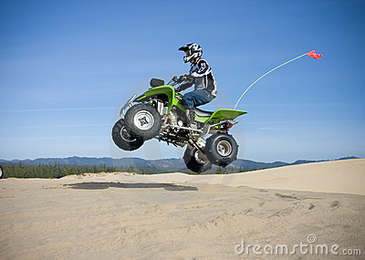 Jumping quad in dunes