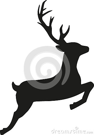 Jumping reindeer Vector Illustration