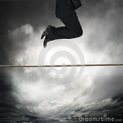 jumping on a rope