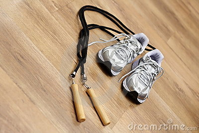 Jumping rope and trainers