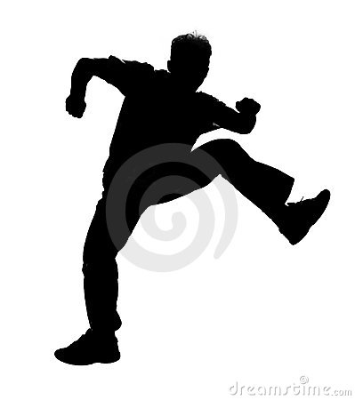 Free Jumping Silhouette Royalty Free Stock Images - 139599
