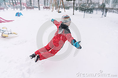 Jumping in snow
