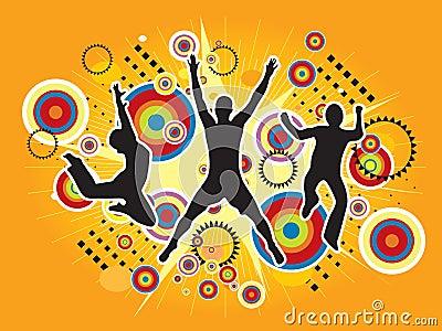 Jumping Sport Illustration