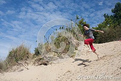 Jumping teenager