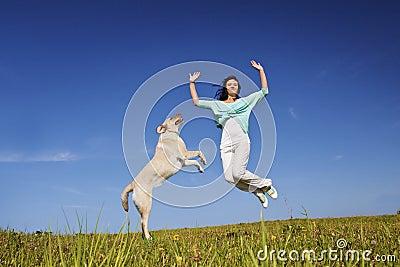 Jumping up