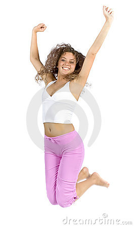 Free Jumping Woman Royalty Free Stock Images - 1115889